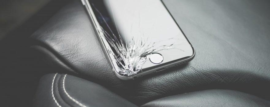 broken iphone Screen